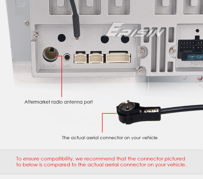 Car Stereo Radio ISO Male Plug to Din Aerial Antenna Adaptor Cable Connector