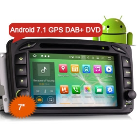 "Goobazaar ES3763C 7"" Android 7.1 Car DVD Player GPS Navigation DAB+ DVR System for BENZ W203 W209 W163 Viano"