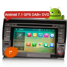 "Goobazaar ES3771F 7"" Android 7.1 FIAT BRAVO Car Audio DVD GPS Navigation"