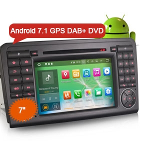 "Goobazaar ES3783L 7"" Android 7.1 DAB+ Car Radio DVD Player 3G Bluetooth GPS for Mercedes Benz X164 W164"
