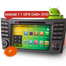 "Goobazaar ES3780E 7"" Benz Android 7.1 Car Radio DVD 3G Bluetooth RDS GPS"