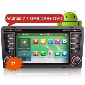 "AUDI A3 Autoradio DVD Player Goobazaar ES3747A 7"" Android 7.1 Car GPS Sat"