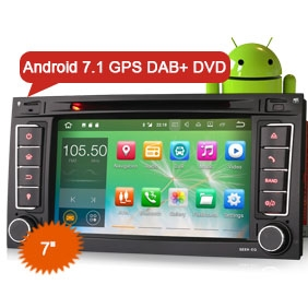 "Goobazaar ES3756T 7"" Android 7.1 Car DVD Player GPS Navigation DAB+ DVR Bluetooth Canbus for VW TOUAREG"