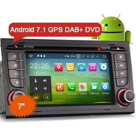 "Goobazaar ES3778A 7"" Android 7.1 Car Radio DVD Player GPS Navigation Wifi OBD DVR DAB+ for AUDI A4 S4 RS4 B7 B9"