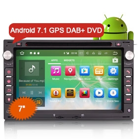 "Goobazaar ES3786V 7"" Android 7.1 Car DVD CD Player GPS for VW Polo Leon"