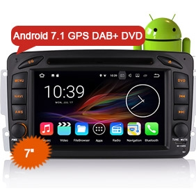 "Benz Car Radio DVD Player Goobazaar ES4757C 7"" Android 7.1 GPS Navigation"