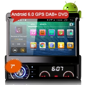 "1 Din Android 6.0 Car Radio 4G DVD Player Goobazaar ES5790U 7"" GPS System"