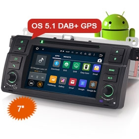 "Goobazaar ES3062B 7"" Android 5.1 Car DVD Player DAB+ for BMW E46"