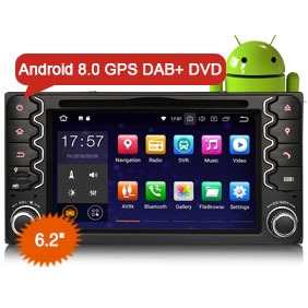 "Goobazaar ES7838C 6.2"" Android 8.0 Car Stereo GPS System 4G Wifi DAB+ for Toyota Corolla EX RAV4 Vios Vitz Hilux"