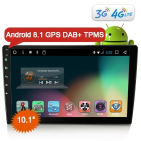 "Goobazaar ES8210U 1Din 10.1"" Android 8.1 T8 4G DAB+ Radio Rotable 2.5D Curverd Screen Car Stereo GPS System"