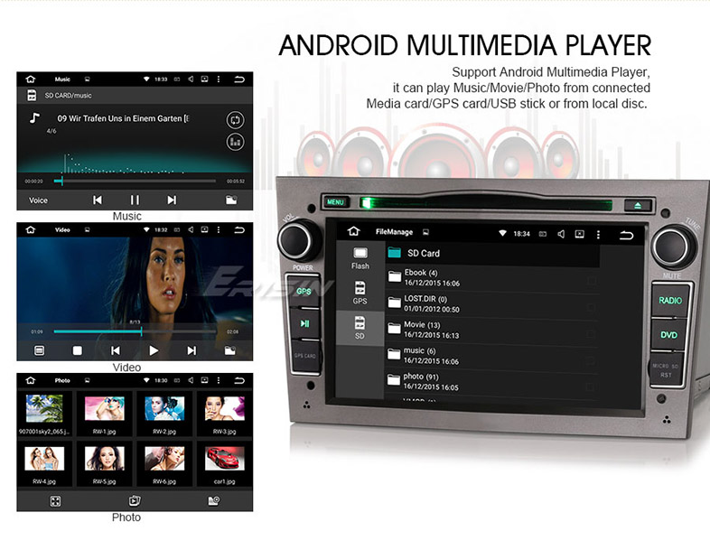 "Goobazaar ES4681P 7"" Android 5.1 Car DVD GPS 3G WiFi DAB+ for Opel"