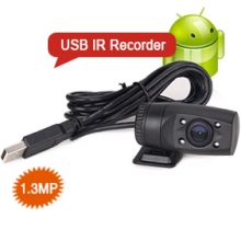 Goobazaar ES553 Universal 1.3MP Night Vision USB Camcorder Recorder for Android Car DVD