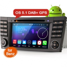 "Goobazaar ES4501B 7"" Android 5.1 Car DVD DAB+ GPS for Benz G/E/CLS Class"