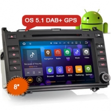 "Goobazaar ES3021B 8"" Android 5.1 DAB+ Car GPS System for Benz A/B Class"