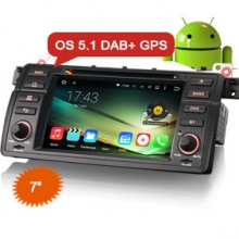 "Goobazaar ES4046B 7"" Android 5.1 Car DVD DAB+ GPS System for BMW E46 M3"