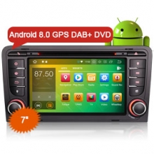 "Goobazaar ES7847A 7"" Octa-Core Android 8.0 Car Radio DVD GPS Player 4G Wifi DVR DAB+ DTV-IN for AUDI A3 S3 RS3"